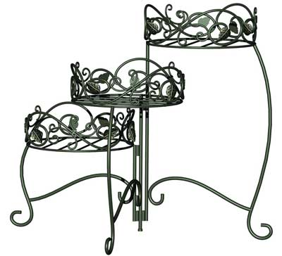 6. Panacea Products 3-Tiered Folding Scroll and Ivy Herb Stand