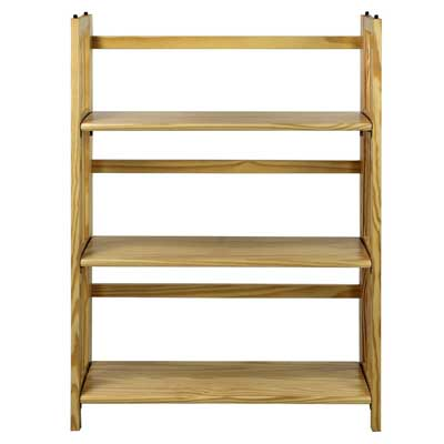1. Casual Home Folding Stackable Bookcase: