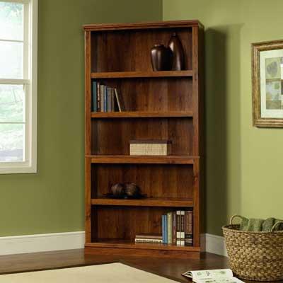 6. 5 Shelf Bookcase with Abbey Oak Finishing: