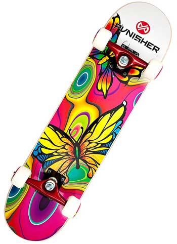 Punisher Skateboards Butterfly Jive Complete