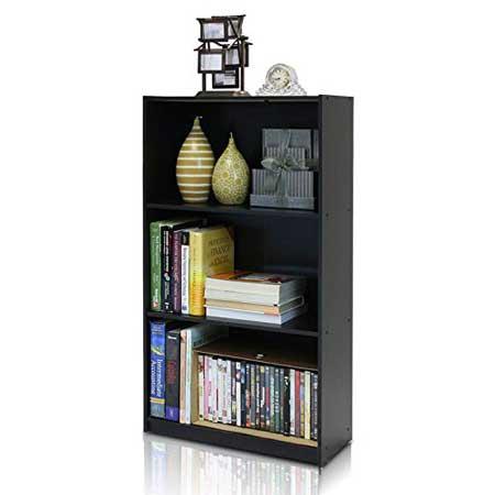 3. Furinno Bookcase Storage Shelves: