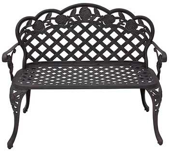 8. Best Choice Patio Garden Bench Products Cast New Aluminum Outdoor Garden