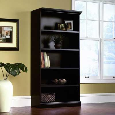4. Sauder Library Bookcase with Estate Black Finishing: