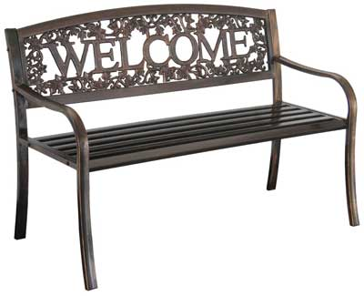 4. Metal Welcome Bench