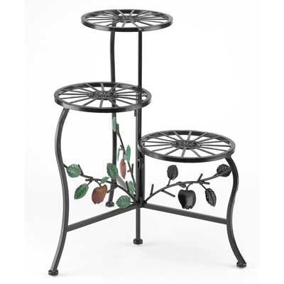 3. Gifts Decor Country Apple Plant Stand Shelf Holds