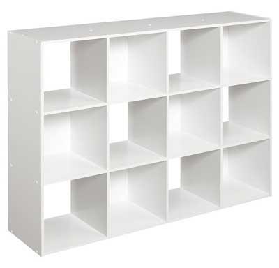 8. ClosetMaid white 12-Cube Organizer: