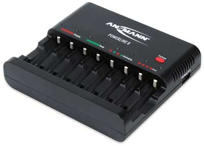 2. ANSMANN Powerline 8 Automatic Smart Battery Charger