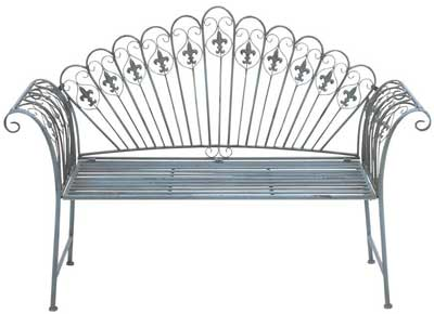 5. Deco 79 Metal Bench, which is 57 inches by 40-Inches