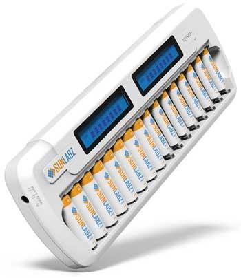 5. SunLabz 16-Bay/Slot SMART Battery Charger