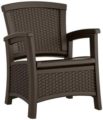 1 Suncast ELEMENTS Club Chair with Storage, Java