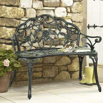 7. Best Choice PBCP Outdoor Patio Products Garden Bench Iron Antique Backyard Porch Furniture